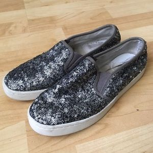 NY&Co Sequin Loafers Size 8